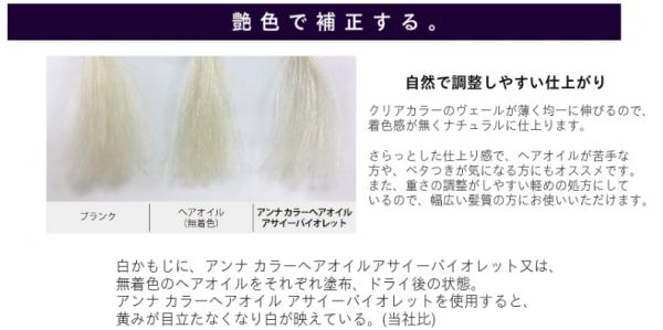 アンナカラーヘアオイル実験